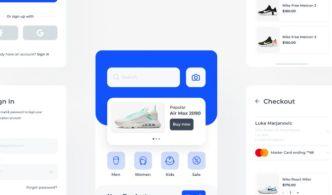 Shopy Shopping App Mobile UI Kit Figma