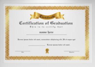 Elegant Graduation Certificate Vector Template