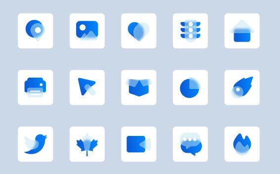 50 Glassmorphism Icons Figma
