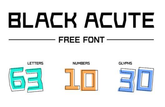 Black Acute Font