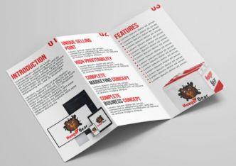 Tri-fold Food Brochure PSD Mockup