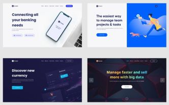 20 Site Hero Header Templates For Figma