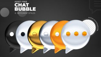 6 Chat Bubble Icons
