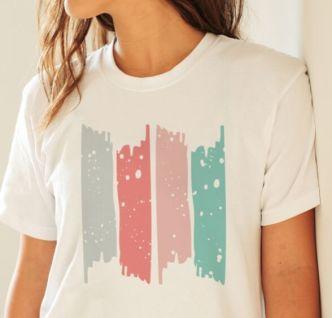 Abstract T-shirt Design PSD