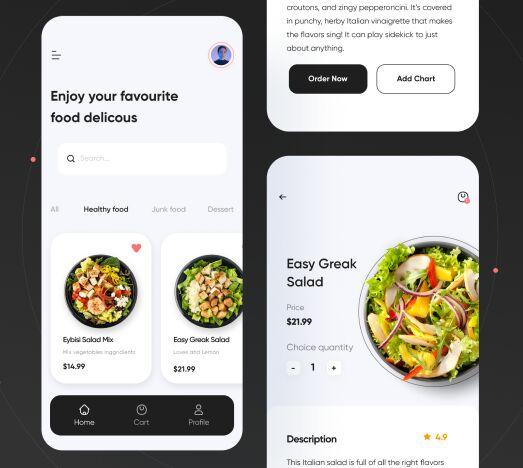 Clean Food Delivery App UI Kit Figma