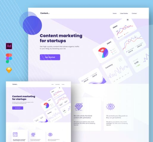 Content Marketing Landing Page Template