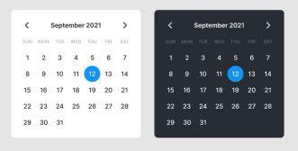 Dark & Light Calendar UI Figma