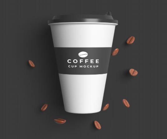 Plastic Coffee Cup Mockup PSD
