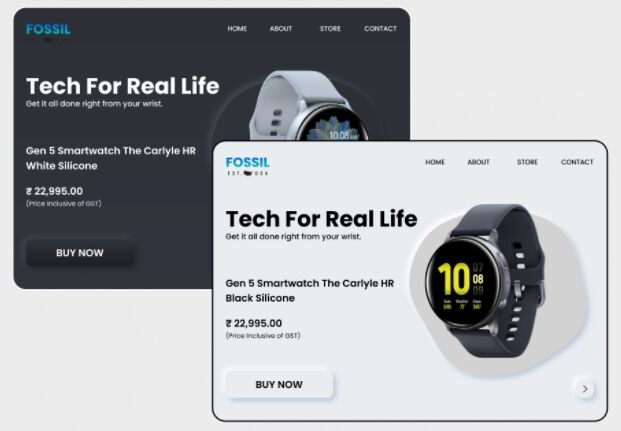 Product Landing Page Neumorphism Figma