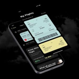 Air Ticket iOS App Design Figma