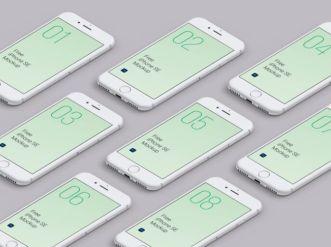 Isometric iPhone SE 2020 Mockup