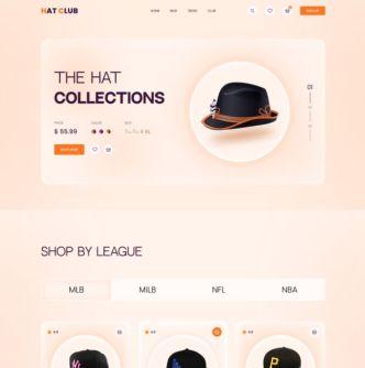 Hat E-commerce Landing Page UI Template Figma