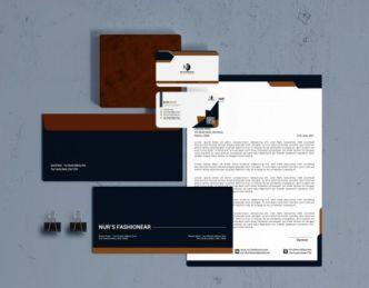 Editable Printy Read Corporate Stationery Vector Set