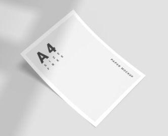 Minimal A4 Size Paper Mockup PSD