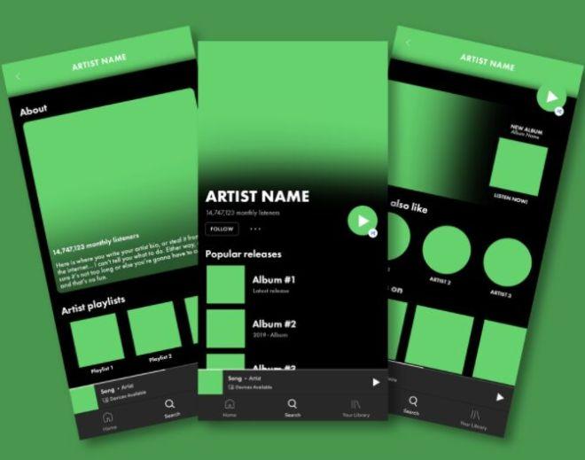Editable Spotify PSD Mockups