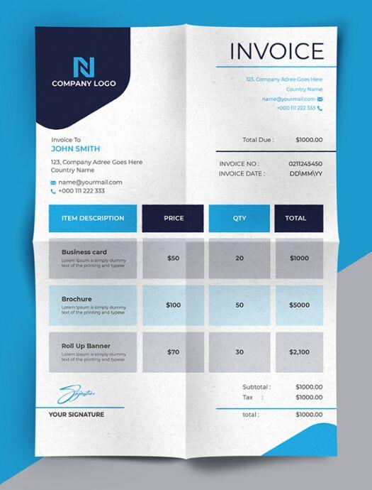Invoice Template Vector