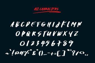 Tracker Handwritten Font