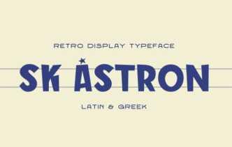 SK Astron Retro Display Font