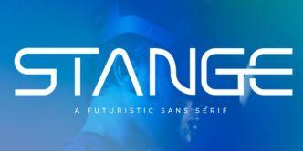 Stange Futuristic Font