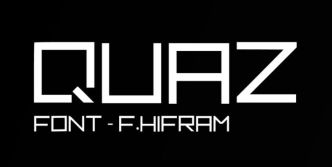 Quaz Pixel Style Display Font