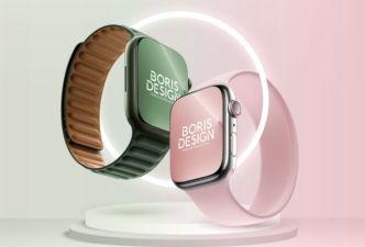 High Quality Apple Watch Series 7 PSD Mockup