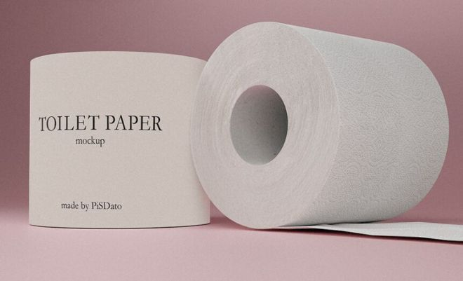 Hi-res Toilet Paper Mockup PSD