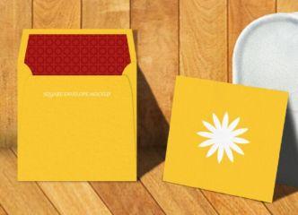 Square Envelope PSD Mockup