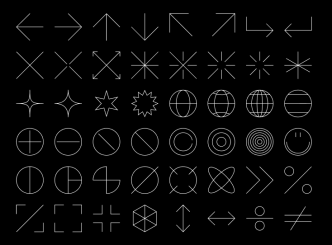 Thin Glyphs Icon Set Figma
