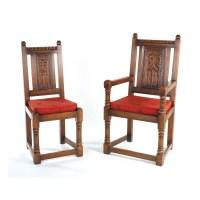 English Oak Chairs - Titchmarsh & Goodwin