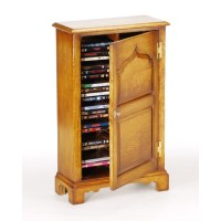 English Oak DVD / CD Storage Cabinet