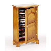 English Oak DVD / CD Storage Cabinet - Titchmarsh & Goodwin