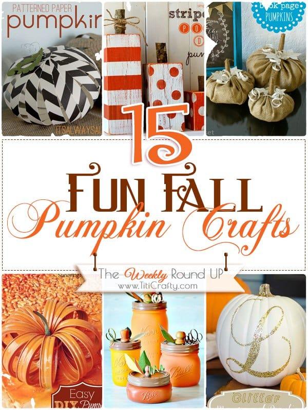 15 Fun DIY Fall Pumpkin Crafts