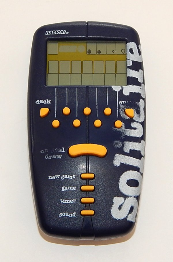 1998 Radica Solitaire Hand Held Electronic Game Working