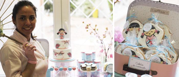 Mesa de dulces Geisha - Kokeshis