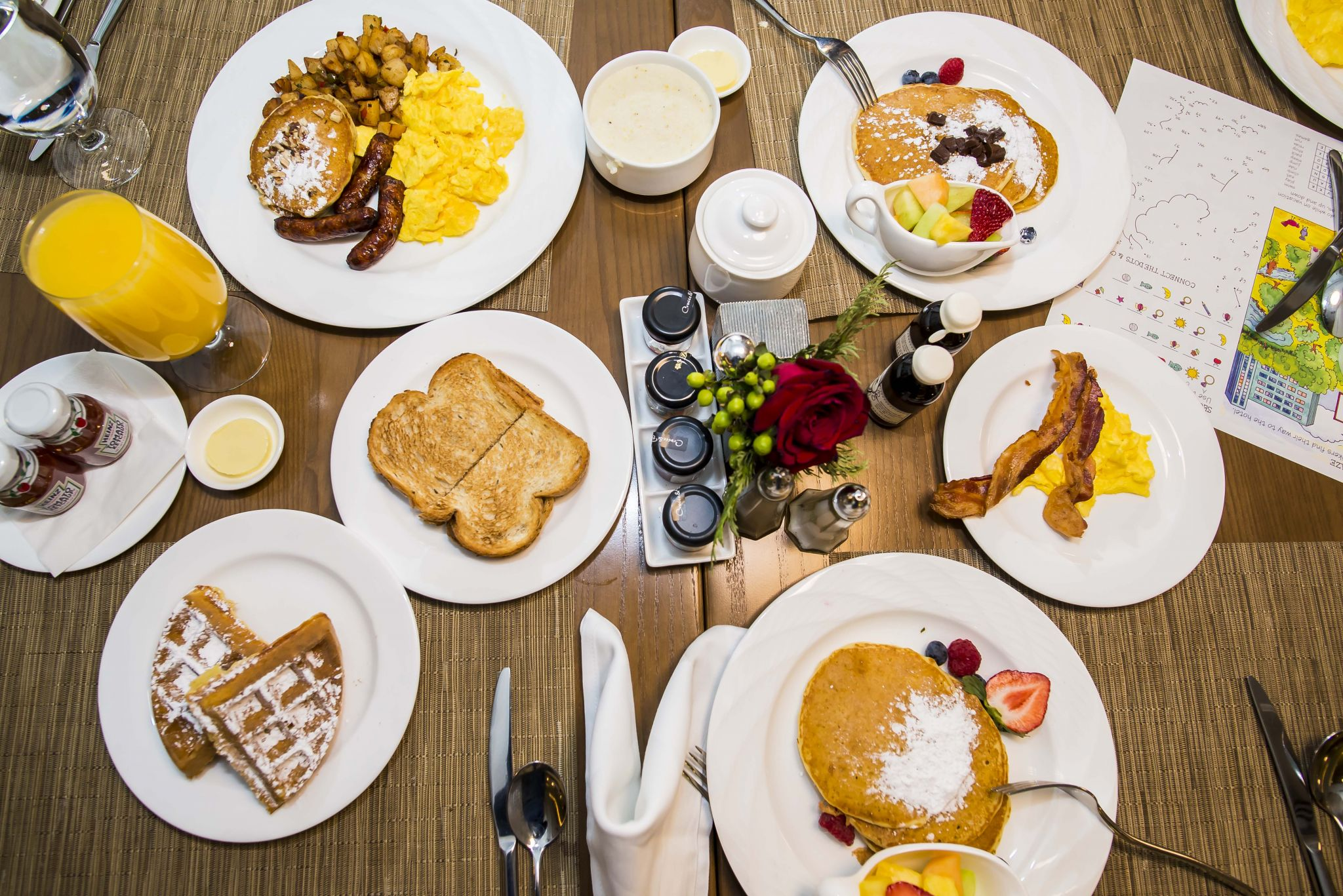 Breakfast at the whitley hotel