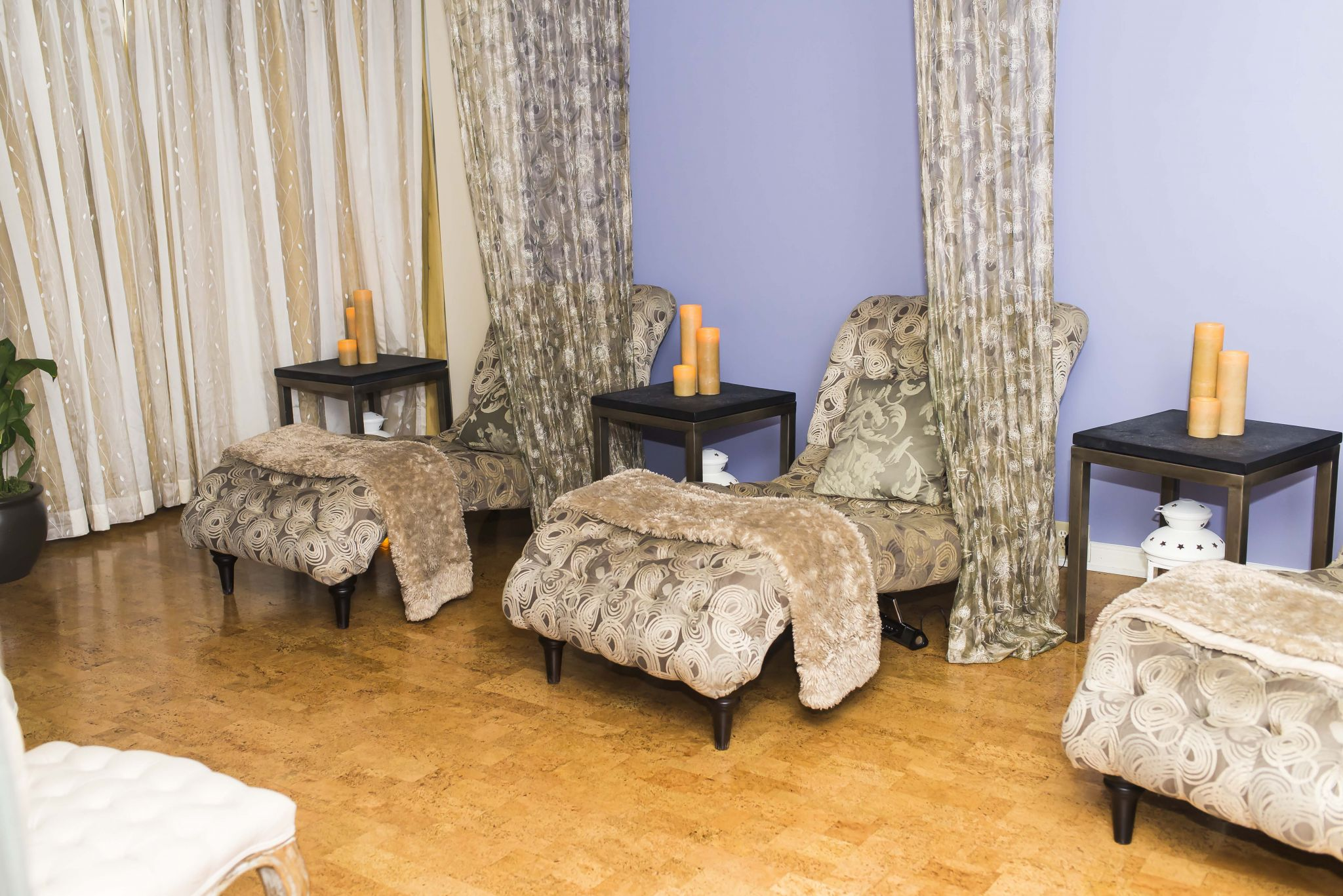 relaxation area at the spa