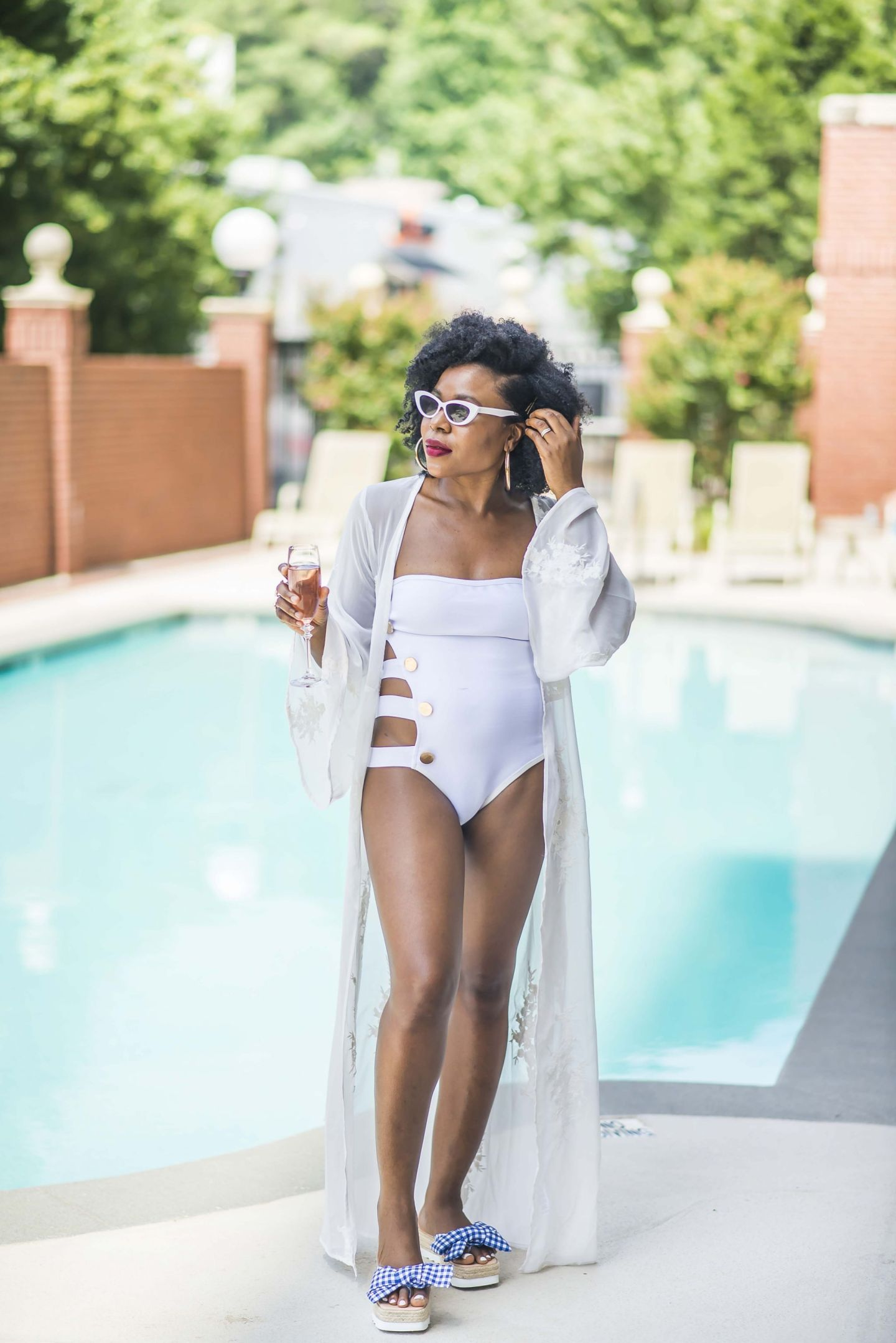 PrettyLittleThing Bandage Button Side Swimsuit