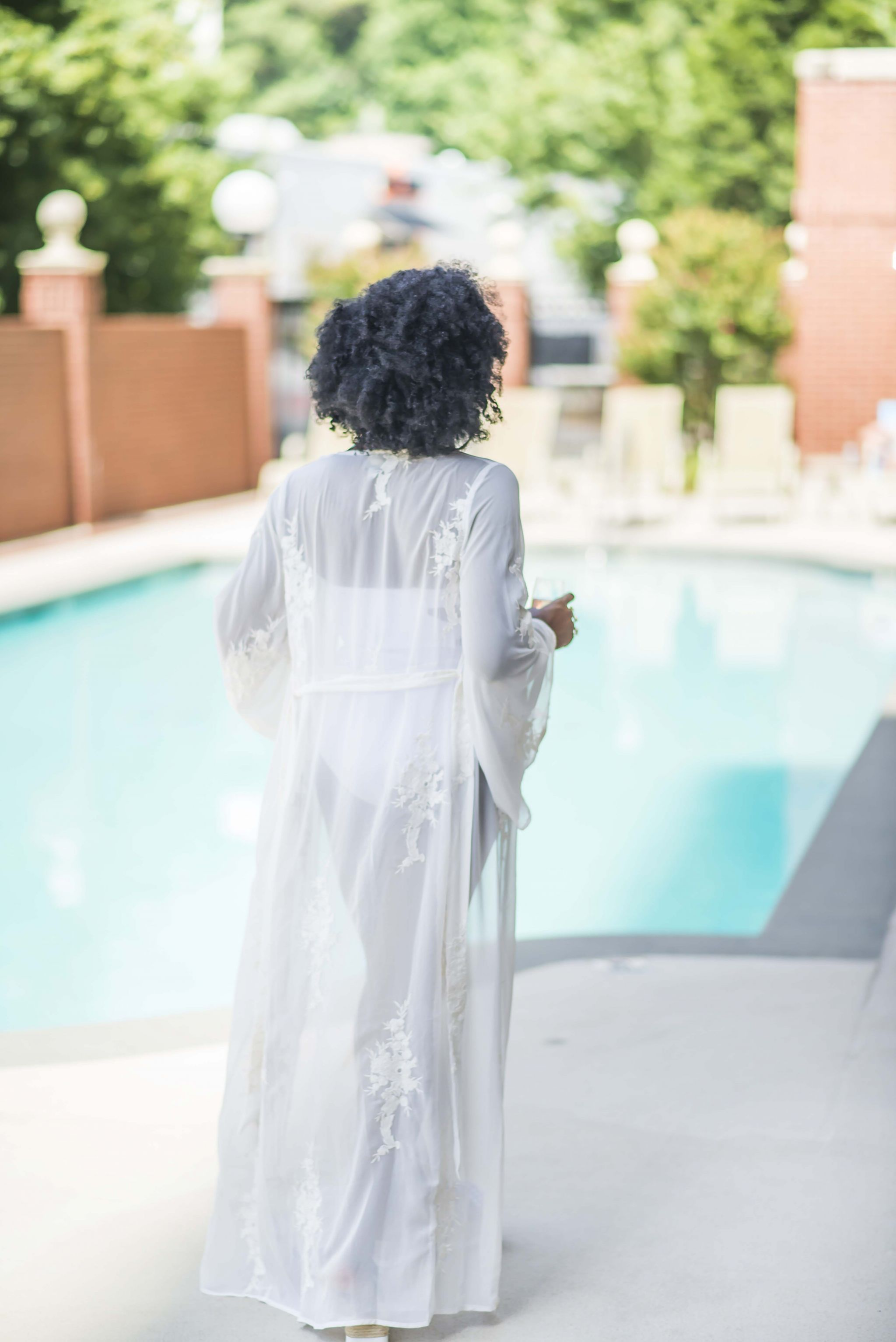 ASOS DESIGN Bridal Embroidered Maxi Beach Kimono