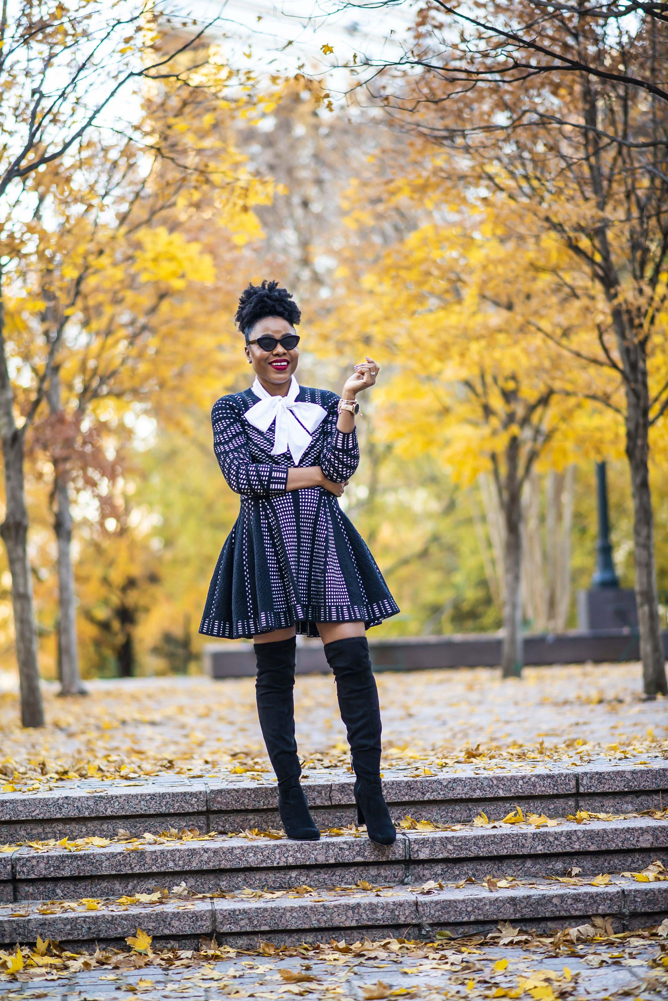 Fit & Flare Knit Dress TOPSHOP