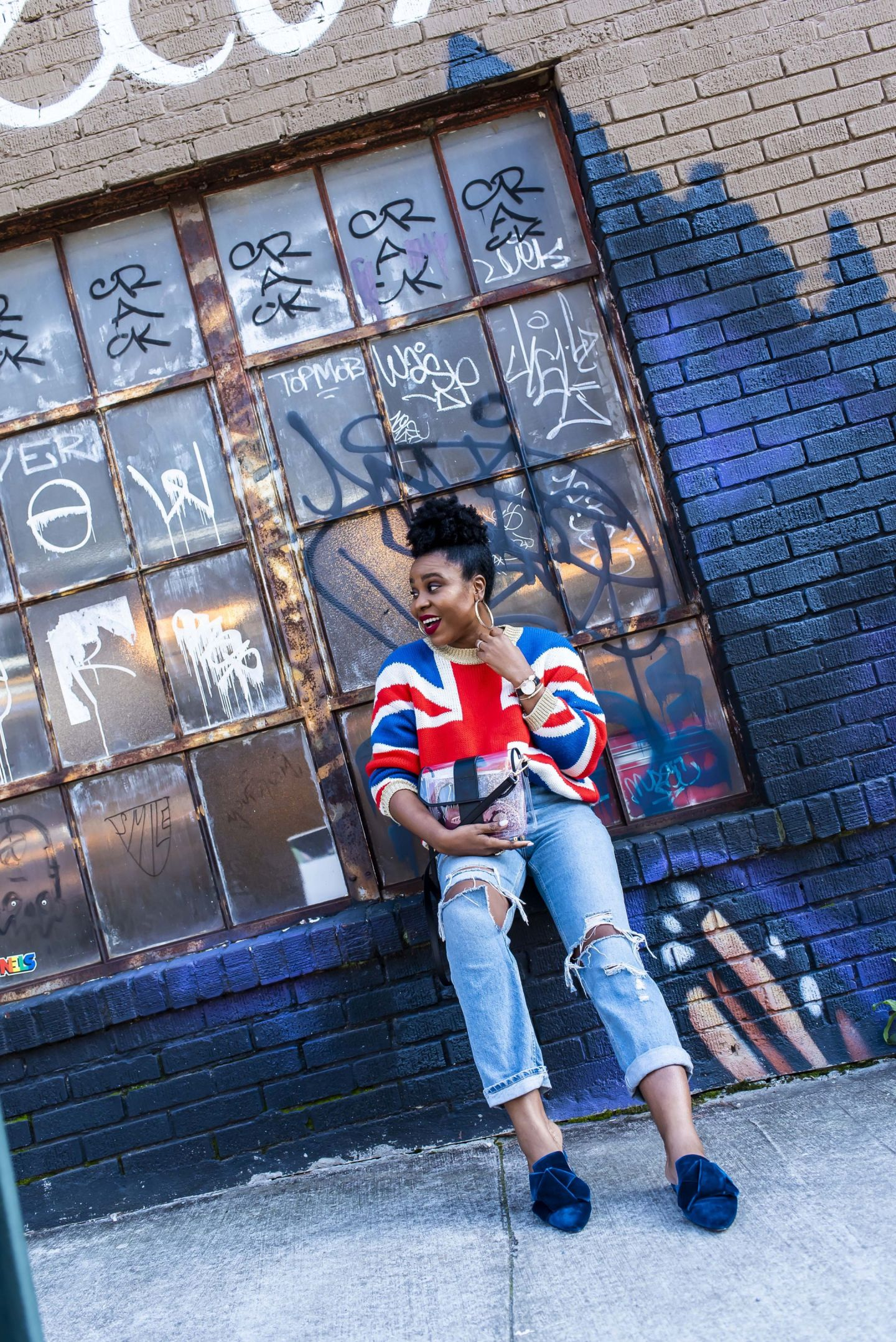 topshop union jack sweater