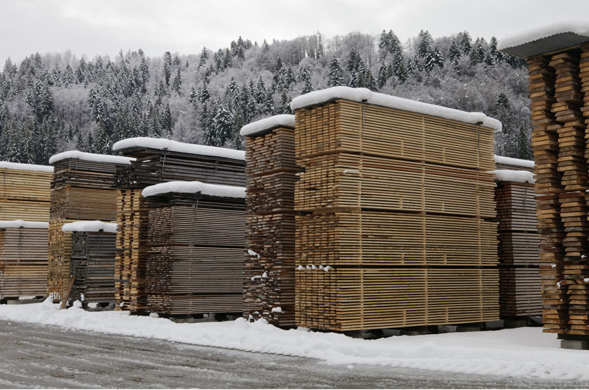 Einsiedeln Abbey (wood stacks), Einsiedeln, Switzerland