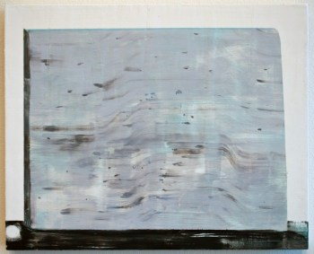 "Corey Antis, Untitled (Wall) acrylic on panel, 11""x14"", 2012."