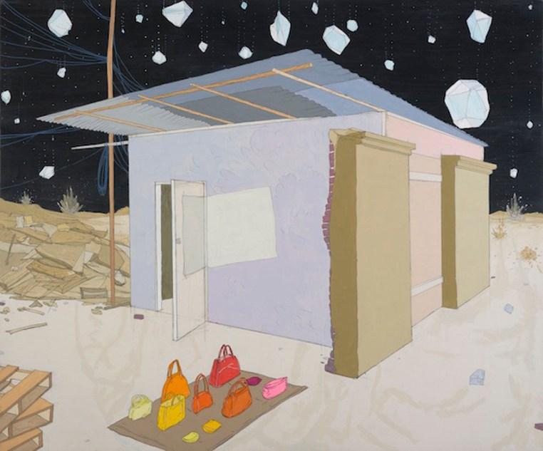 "Ghost Cargo Graphite, gouache, acrylic on canvas20x24"", 2013"