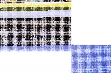 Original Fibonacci, 2001 Oil on two canvases 50 x 69 ¼ inches and 27 ¼ x 38 inches