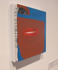 Slick Hero Smile, 2013 Acrylic on Panel, Adam Lovitz Installation Shot by Abby King
