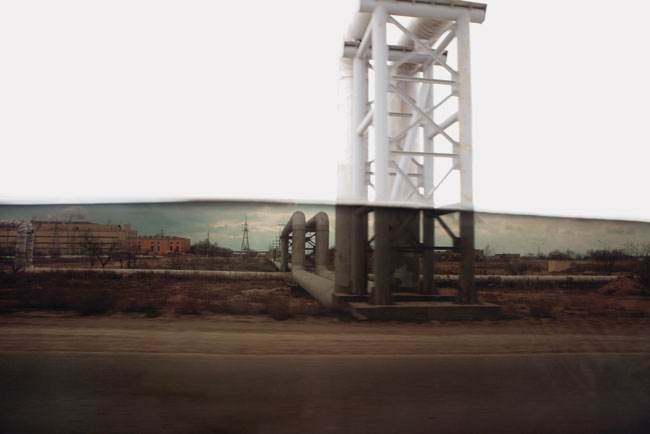 Simon Lee Orange Factory, 2009 ink jet on etching paper 44 x 63 inches edition 10 + 2 A.P.