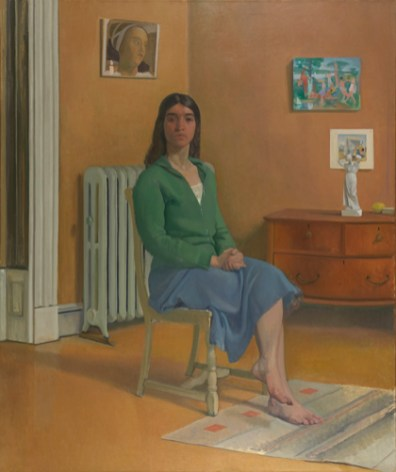 Lennart Anderson, Portrait of Barbara S., 1976-77, oil on canvas, 72 1/8 x 60 1/4 in., Pennsylvania Academy of the Fine Arts.