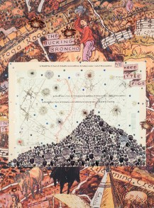 Manifest Destiny III, 2008 collage, digital inkjet print/paper, ea. 39.75 x 29.5""
