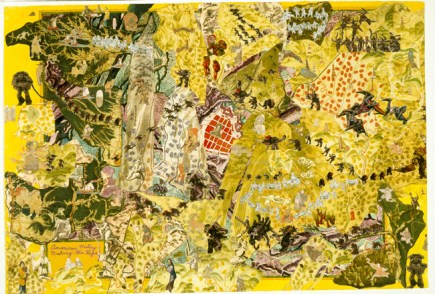 """American History Series # 7: Nuking the Japs, 2004 mixed media/paper, 33 x 47.75"""""""