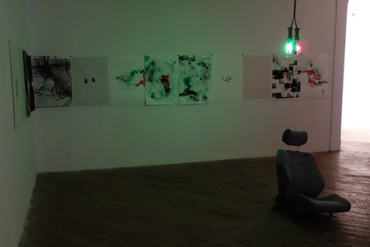 Anthony Hawley, installation view of Passenger, 2014. Used with Permission